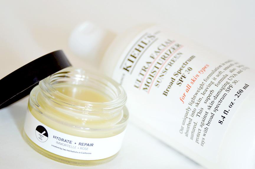 earth tu face balm, kiehl's ultra facial moisturizer, a balanced approach to skincare