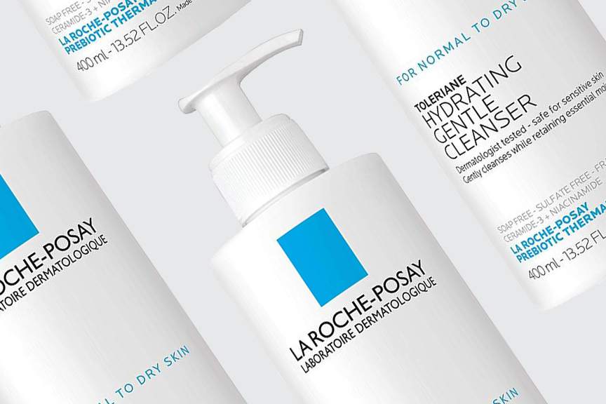 gentle facial cleanser for teens skin by la Roche posay